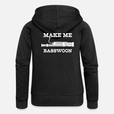 Concert Funny Make Me Swoon Bassoon Player product - Women's Premium Zip Hoodie