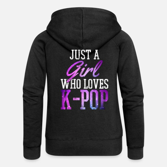 Pop Sweat-shirts - K-Pop - Veste à capuche premium Femme noir