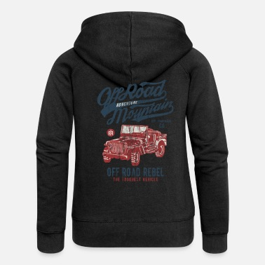 Logo ADVENTURE JEEP - Off Road Jeep Shirt Motiv - Frauen Premium Kapuzenjacke