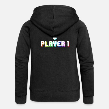 Maus Gamer Player 1 - Frauen Premium Kapuzenjacke