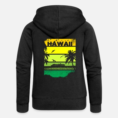 Hawaiian T-shirt Hawaiian Hawaii Island Beach anni '80 - Felpa con zip premium donna