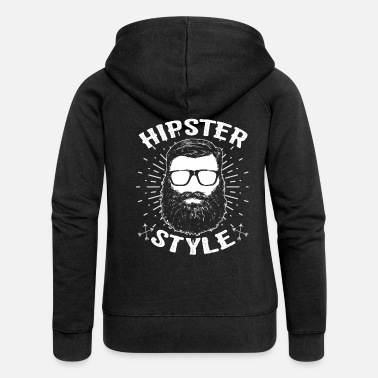Hipster Hipsters hipster - Women's Premium Zip Hoodie