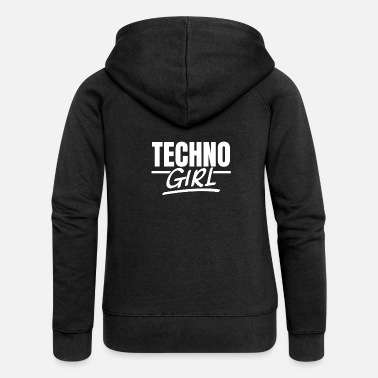 Techno Girl Techno Girl Techno Raves Raver Girl Afterhour - Women's Premium Zip Hoodie
