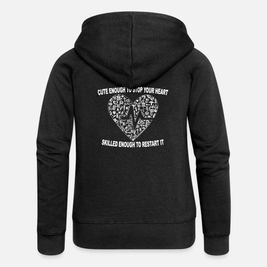 e051573051def Infirmier Sweat-shirts - Mignon assez pour arrêter votre coeur, assez  savant .