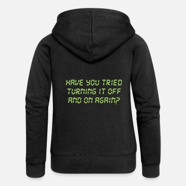 Turn Off Turning off and on - Women's Premium Zip Hoodie