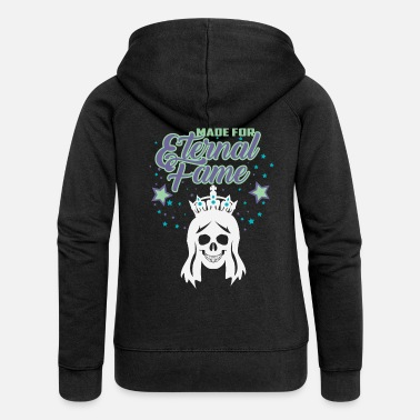 Glamour MADE FOR ETERNAL FAME - Forever Princess - Women's Premium Zip Hoodie