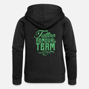 Remove Team removal tattoo removal tattoo removal - Women's Premium Zip Hoodie