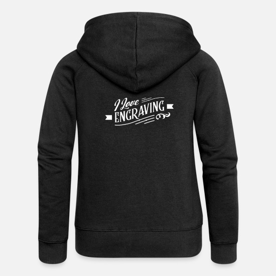 Gift Idea Hoodies & Sweatshirts - Engraver Engraver Engraving Team Engraving - Women's Premium Zip Hoodie black
