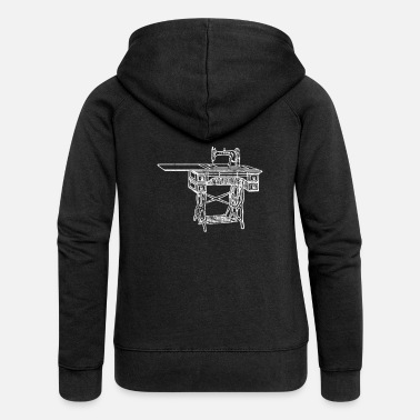Sewing Machine sewing machine - Women's Premium Zip Hoodie