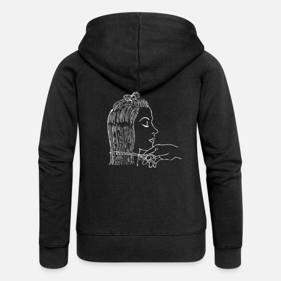 Scissors Hoodies & Sweatshirts - hair stylist - Women's Premium Zip Hoodie black