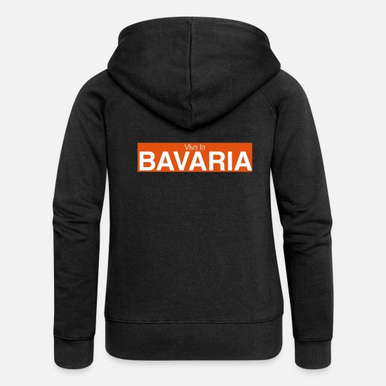 Munich Hoodies & Sweatshirts - Viva la Bavaria - Women's Premium Zip Hoodie black