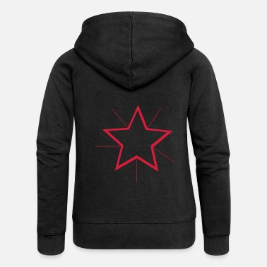 Star Winter Star (Red) Winter Edition - Women's Premium Zip Hoodie
