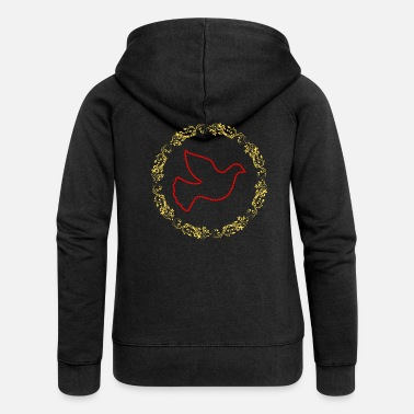 Movement Vertigo Gold Hope Dove - Women's Premium Zip Hoodie