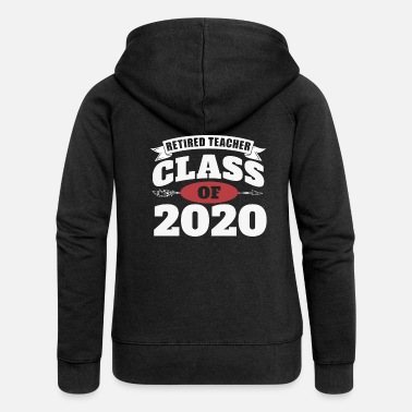 Reading Funny Retired Teacher Preschool Teacher 2020 - Women's Premium Zip Hoodie