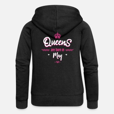 Toro Queens are born in may - Chaqueta con capucha premium mujer