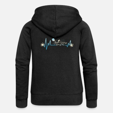 Water Polo Water Polo Heartbeat Sport Swimming Gift - Women's Premium Zip Hoodie