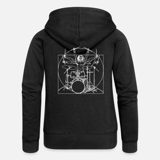 Drumsticks Hoodies & Sweatshirts - Drums - Women's Premium Zip Hoodie black