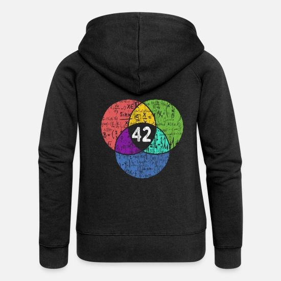Geek Hoodies & Sweatshirts - 42 - Nerd Geek - science fiction - Women's Premium Zip Hoodie black