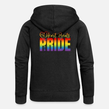 Beats LGBT Gay Pride Logo Herz My Heart Beats With Pride - Frauen Premium Kapuzenjacke