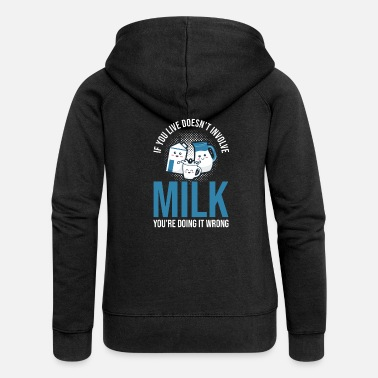 Milk Milk raw milk whole milk - Women's Premium Zip Hoodie