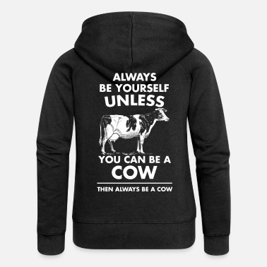 Farm Cow Animal Cattle Farm Funny Gift - Women's Premium Zip Hoodie