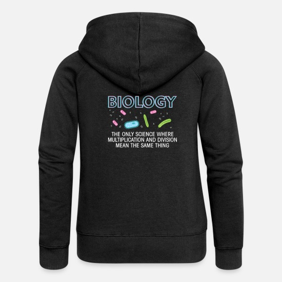 Professor Hoodies & Sweatshirts - biology - Women's Premium Zip Hoodie black