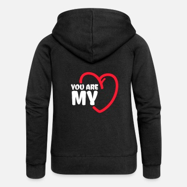 You Are My Love Sweet Partner Cuore San Valentino - Felpa con zip premium da donna