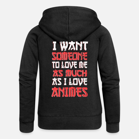 Love Hoodies & Sweatshirts - Anime - Women's Premium Zip Hoodie black