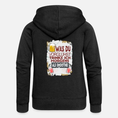 Pregaming Beer Drink Funny saying Preheat - Women's Premium Zip Hoodie