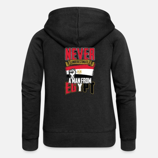 Love Hoodies & Sweatshirts - Egypt - Women's Premium Zip Hoodie black