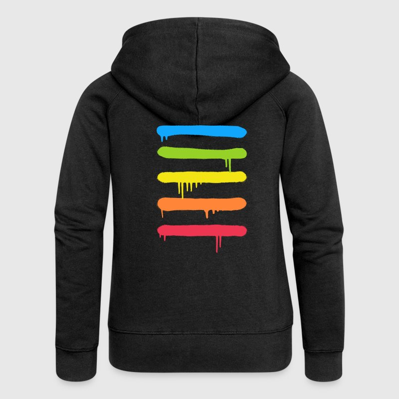 Trendy Cool Graffiti Tag Lines - Women's Premium Hooded Jacket