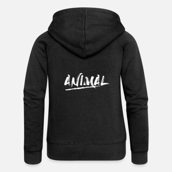Animal Rights Hoodies & Sweatshirts - Animal animal rights activist - Women's Premium Zip Hoodie black