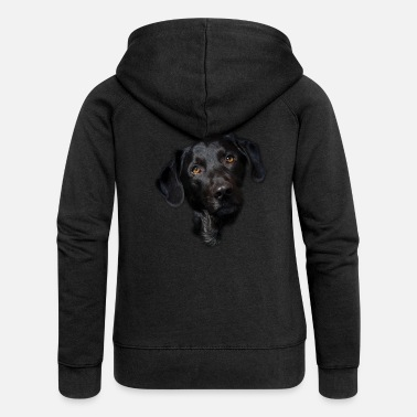 Black Labrador Dog Design - Black Labrador Head - Women's Premium Zip Hoodie