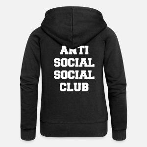 Premium Donna Hoodie Sociale Anti Spreadshirt Club Social qw0Wg6