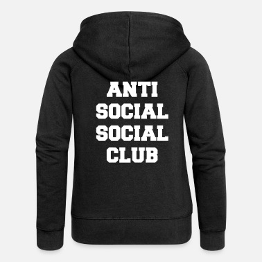 Anti social social club - Women's Premium Zip Hoodie