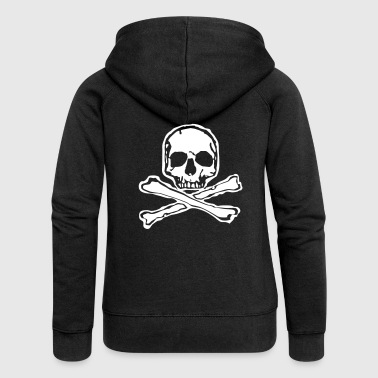 Skull Skull Tattoo Bones Skull Bone Style - Women's Premium Hooded Jacket