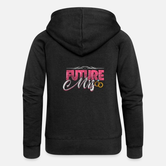 Bride Hoodies & Sweatshirts - bride - Women's Premium Zip Hoodie black