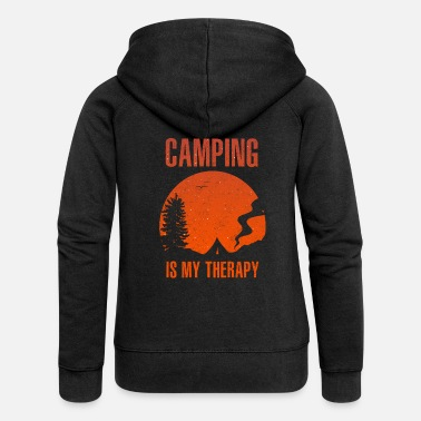 To Camp Camping Camping - Women's Premium Zip Hoodie