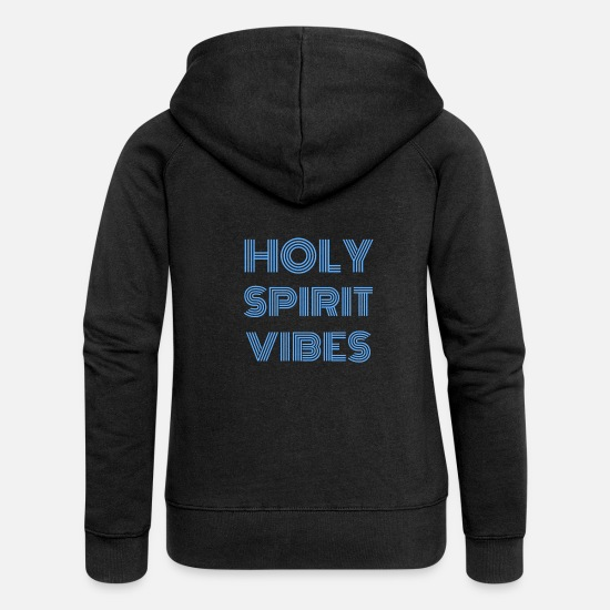 Christian Hoodies & Sweatshirts - Christianity - Women's Premium Zip Hoodie black