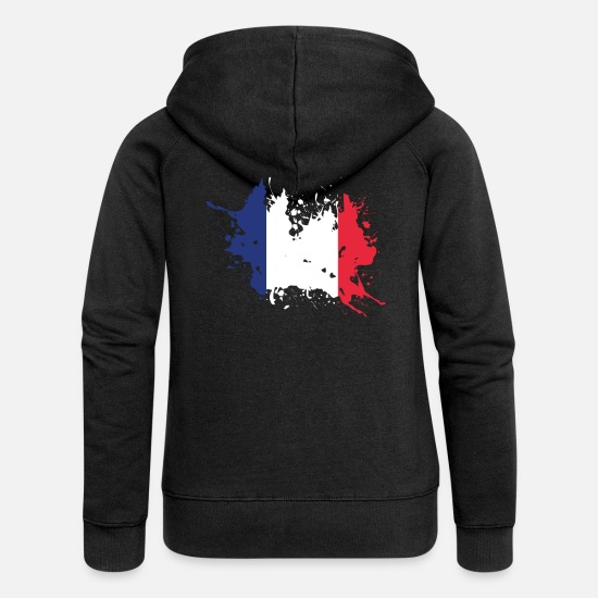 French Flag Hoodies & Sweatshirts - France flag France flag - Women's Premium Zip Hoodie black