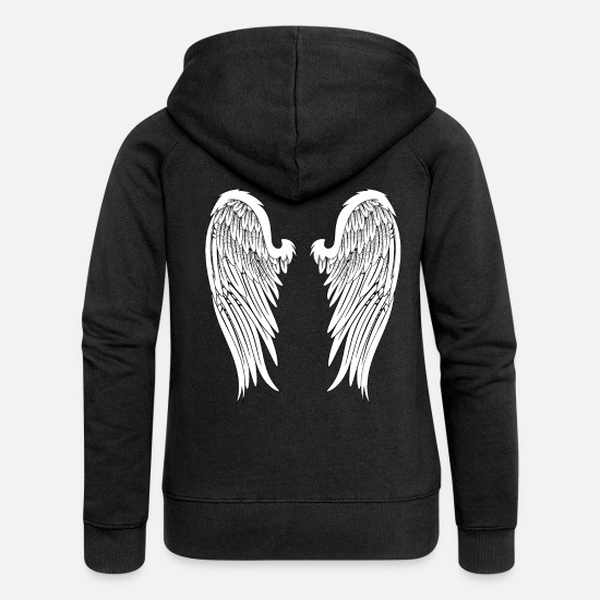 Angel's Wings Hoodies & Sweatshirts - Angel Wings - Women's Premium Zip Hoodie black