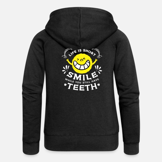 Dentist Hoodies & Sweatshirts - Funny Sayings Funny Quote Inspirational Quotes - Women's Premium Zip Hoodie black