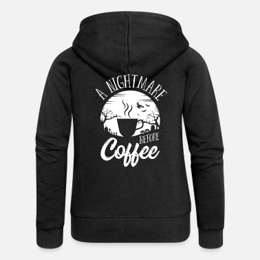 Vampire Halloween A Nightmare Before Coffee Costume - Women's Premium Zip Hoodie