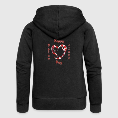 Valentine, Valentine's Day, Valentines, love - Women's Premium Hooded Jacket