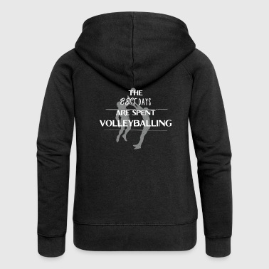 Volleyball volleyballer gift beach volleyball - Women's Premium Hooded Jacket
