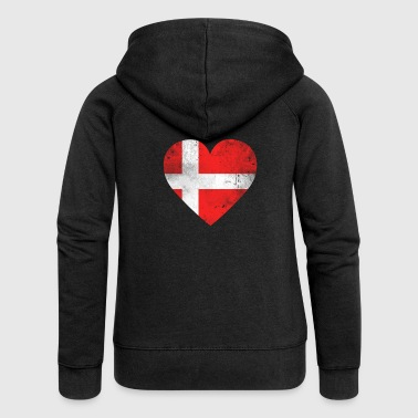 Gift Denmark flag danish flag danish - Women's Premium Hooded Jacket