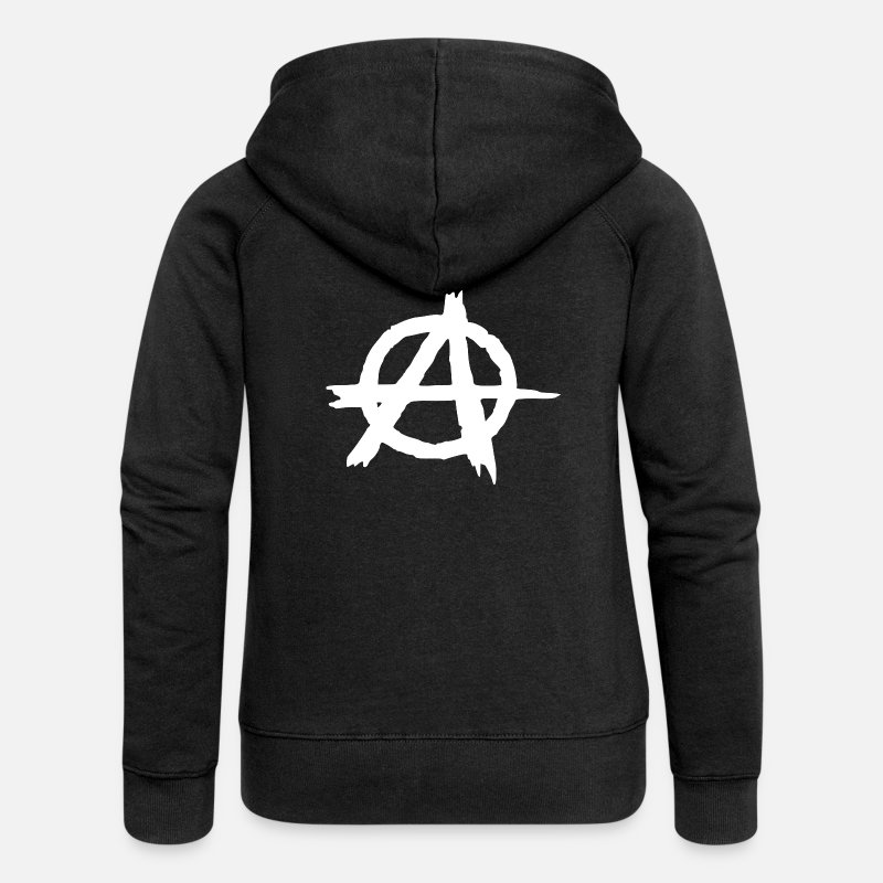 Anarchiste Sweat-shirts - anarchie - Veste à capuche premium Femme noir