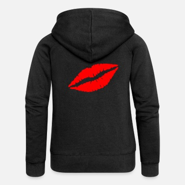 Lips Lips kiss kiss mouth - Women's Premium Zip Hoodie