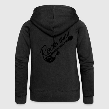 Rock on with guitar - Women's Premium Hooded Jacket