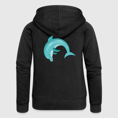 Dolphin mammal - Women's Premium Hooded Jacket